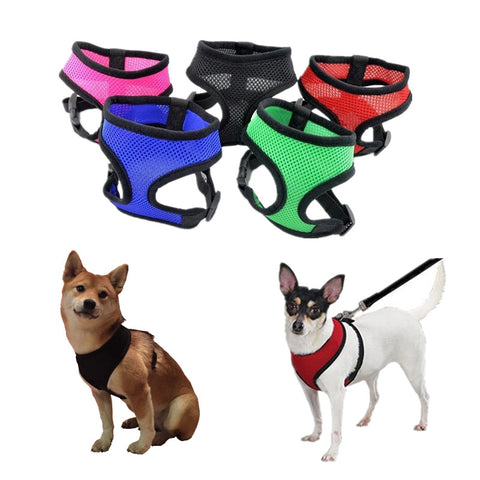 1PC Adjustable Soft Breathable Dog Harness Nylon Mesh Vest Harness for Dogs Puppy Collar