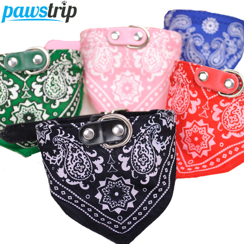 1Pc Lovely Pet Dog Scarf Collar Adjustable Puppy Bandana Quality Pet Cat Tie Collar .