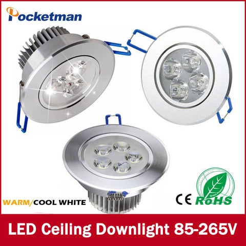 1Pcs 9W 12W 15W AC85V-265V 110V / 220V LED Ceiling Downlight Recessed LED Wall lamp Spot