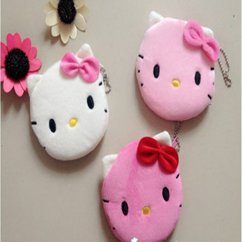 1Pcs Coin Purse & Wallet Pouch Lady's Purses Plush Hello Kitty Kids Girl's Storage Bag