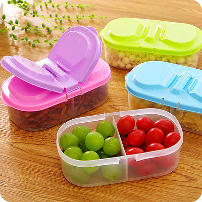 1pc Color Random Portable Microwave Bento Food Container Storage Picnic Colorful Design .