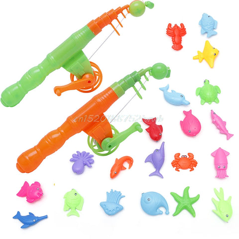 1pc Magnetic Fishing Game Toy Rod Hook Catch Kids Children Bath Time Gift Selling .