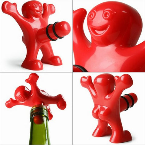 1pc Newest Funny Happy Man Guy Wine Stopper Novelty Bar Tools Wine Cork Bottle Plug