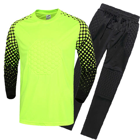 /17 New Kids Soccer Goalkeeper Jersey Set Men's Sponge Football Long Sleeve Goal Keeper