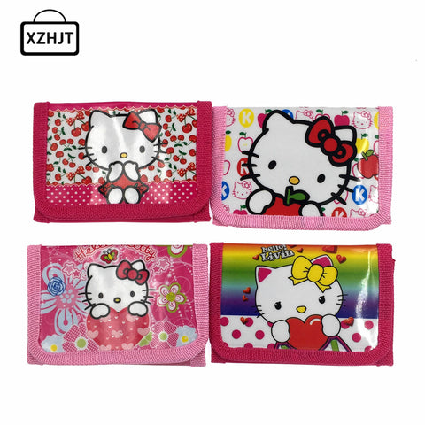 New Hello Kitty Cat Coin Purse Cute Kids Cartoon Wallet Kawaii Bag Coin Pouch Children
