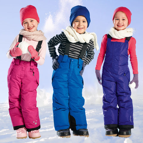 Winter Kids Skiing