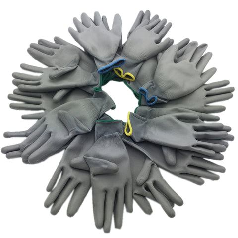 High-quality work gloves protective gloves whole Factory use PU coating and