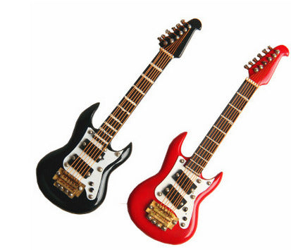 Mini Electric Guitar Magnet Sticker in Iron Musical Instrument Model Birthday Gift