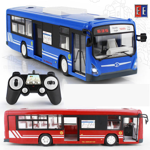 New 2.4G Remote Control Bus Car Charging Electric Open Door RC Car Model Toys For