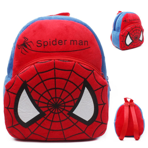 New Baby lovely school bags kids Spider Man plush backpack cartoon schoolbags