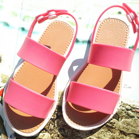 New Summer Children Sandals for Girls Princess Shoes Kids Beach Sandals EUR25-30 Baby