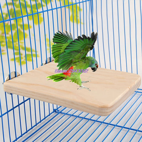 Pet Bird Parrot Chew Toy Wood Hanging Swing Cages Fr Birdcage Parakeet Cockatiel