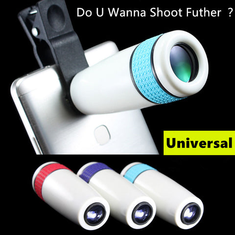 Phone Camera Telescope Monocular HD Optical Phone Lens On Mobile Phones Telephoto