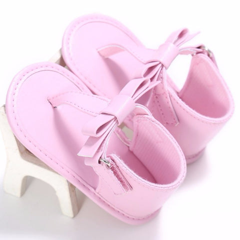 Summer Girls Sandals Flip Flops Bow knot Sandals Non-Slip Infant Soft Child Toddler