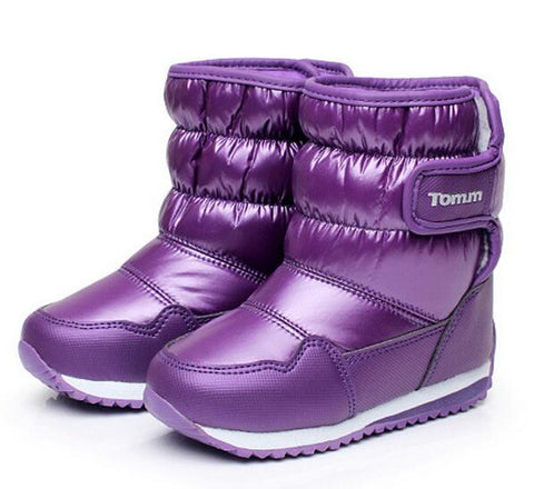 Boots for Boys winter child snow boots solid color brand kids martin boots waterproof baby warm