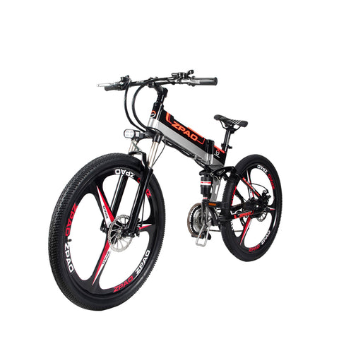 26 inch electric mountain bike 48v anti-theft frame built-in lithium battery 350w motor