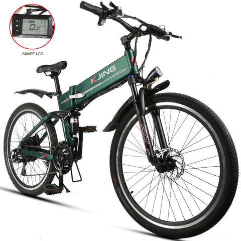 26inch fold electric mountain bike lightweig aluminum alloy 48V lithium battery in the