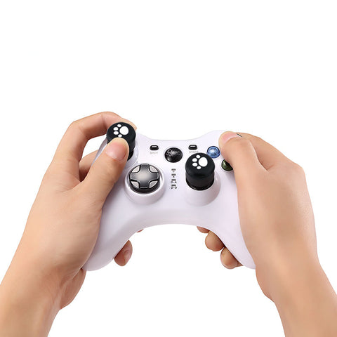2Pcs Wireless Controllers Silicone Analog Thumb Grip Stick Cover Game Remote Joystick