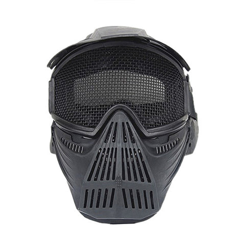 3 Color high strength steel wire round mesh mask cool airsoft masks