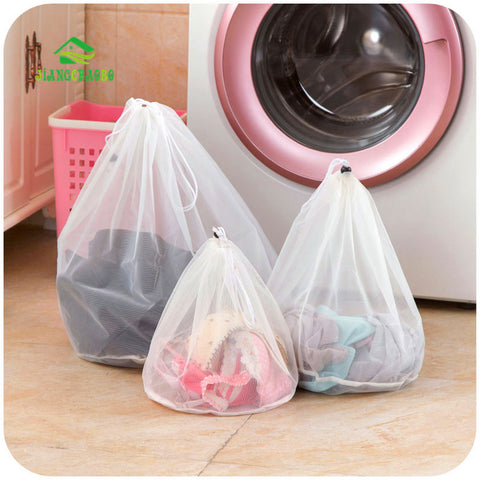 3 Size Drawstring Bra Underwear Products Laundry Bags Baskets Mesh Bag Household