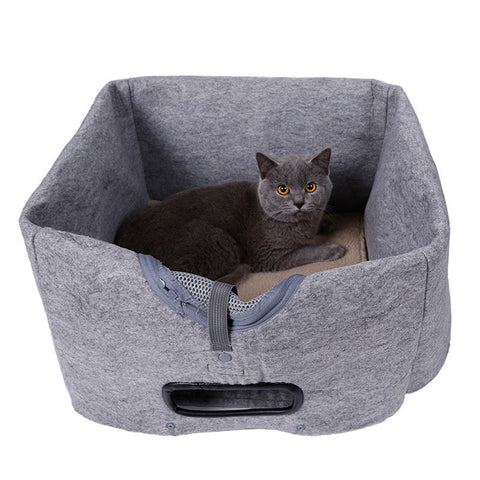 30pcs/lot Multifunctional 3 In 1 Pet Bed Dog Cat House Cage Felt Cloth Handbag Soft Mat