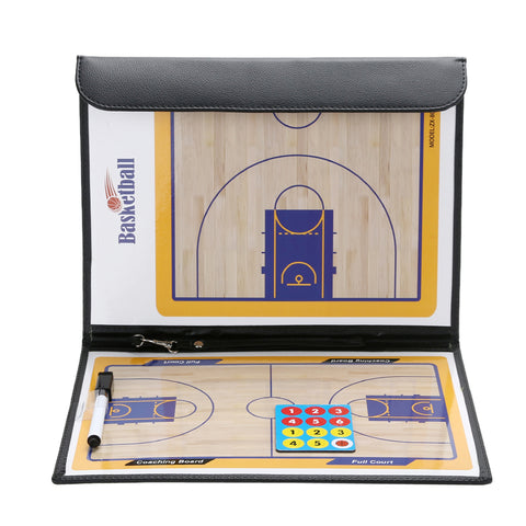 315 x 240mm Basketball Coaching Board Coaches Clipboard Dry Erase w/marker Double-sided