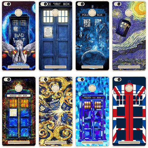 331GH Tardis Box Doctor Who Hard Transparent Cover Case for Xiaomi Redmi 3 3S 3Pro 4