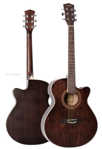 40inch vintage acoustic electric guitar .