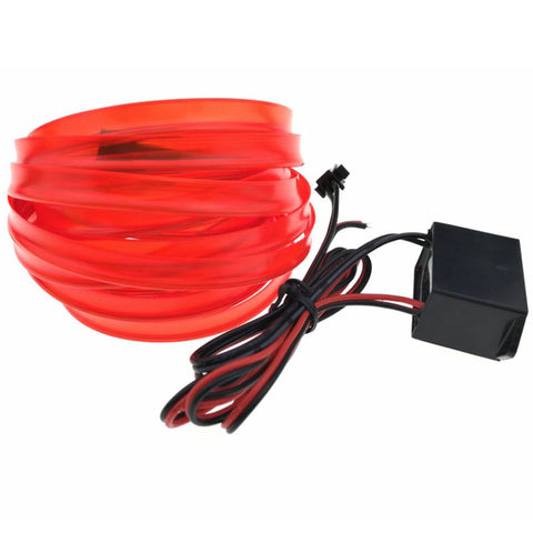 5M 15FT 8mm Sewing Edge Neon Light Dance Party Car Decor Light Flexible EL Wire Rope