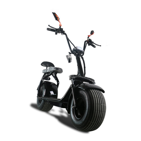 60V lithium electric electric bicycle Black fashion Harley car .