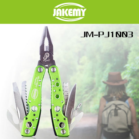 9 in 1 Multifunctional Folding Tools Outdoor Plier Scaling Knife Cross Screwdriver