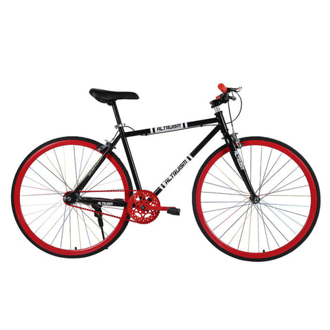 ALTRUISM S6 Steel Road Bike 26 inch 700C Fixed Gear Bike Womens Mens Bicycle Front And