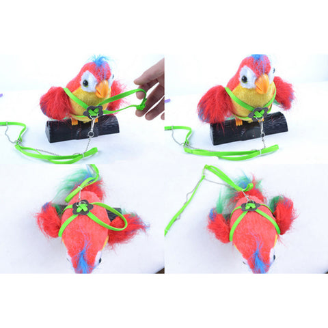 Adjustable Parrot Bird Harness & Leash Anti-bite Soft Fashion Bird Training Leash