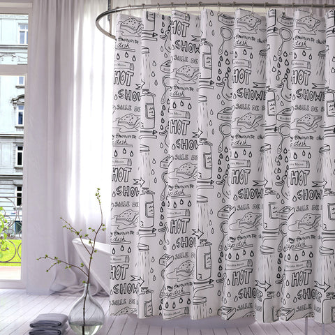 Aimjerry Eco-friendly Mildewproof Waterproof Bathtub Shower Curtain Fabric Liner With