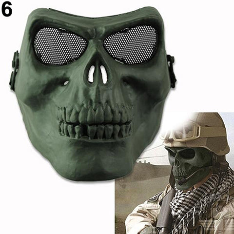 Army Field War Game Full Face Cover Tactical Military Skull Skeleton Mask .