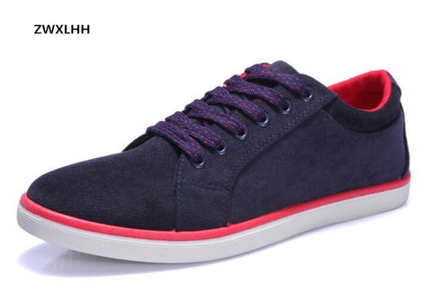 Autumn men's suede canvas shoes, non-slip rubber at the end of men with vulcanized