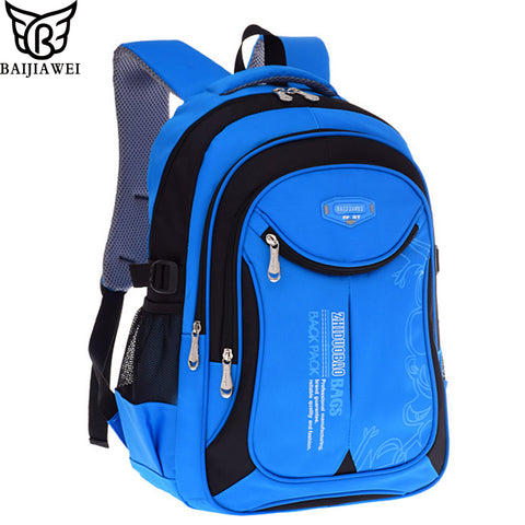 BAIJIAWEI Hot Sale Children Backpacks Primary School Bags For Students Super Light Kids