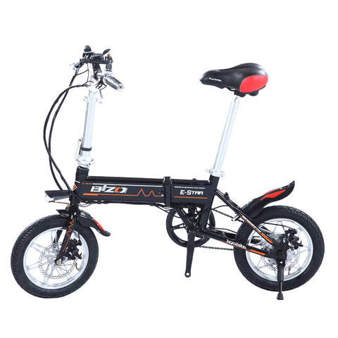 BIZOBIKE SPORT 14inch Mini Electric Foldable Bike With 8Ah Lithium Battery 36V 250W Hub