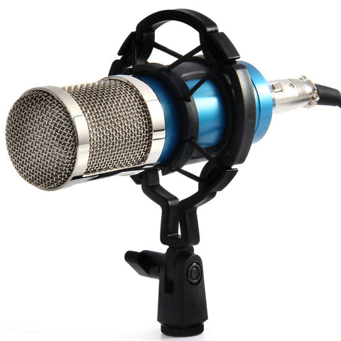 BM-800 Dynamic Condenser Wired Handheld Microphone Mic Sound Studio for Recording Kit