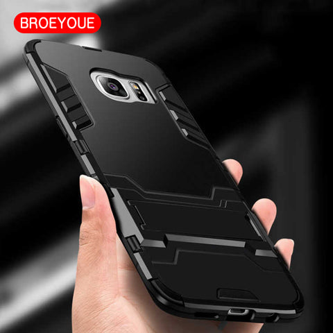 BROEYOUE Armor Case For Samsung Galaxy S8 S7 S6 S5 Edge Plus Note 8 4 5 A5 A7 A8 A510 A710