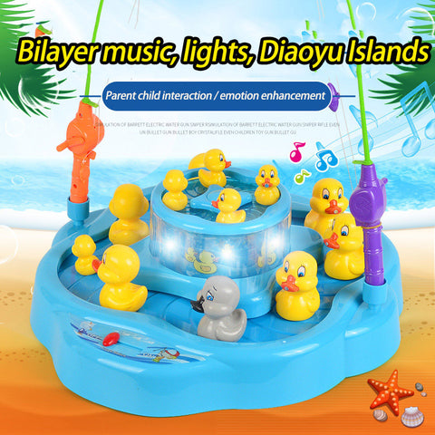 Baby electric duck fishing toy set suit children magnetic children puzzle toy 3-6 years