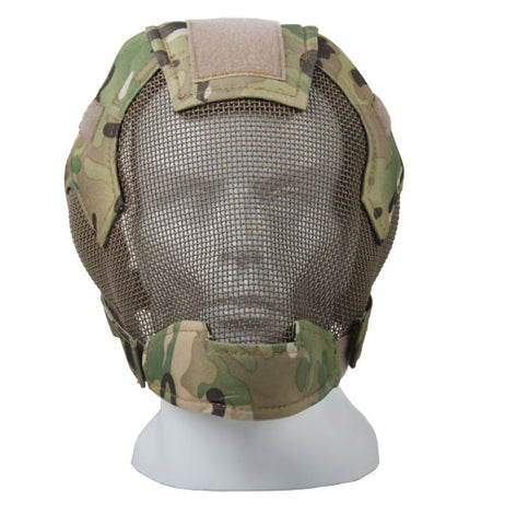 Baseball Paintball Airsoft Full Face Metal Mesh Mask New Gas Mask For Hunting GZ90043 .