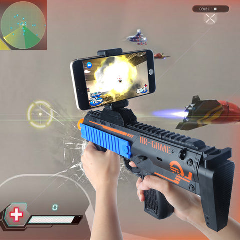 Beiens VR AR Game Gun with Cell Phone Stand Holder AR Toy Game Gun with 3D AR Games for
