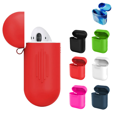 Besegad Silicone Shock Proof Carrying Case Cover Skin Sleeve Pouch Box for Apple Airpods