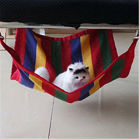 Big Promotion High Quality New Canvas Cat Kitten Hanging Hammock with Hanger Small