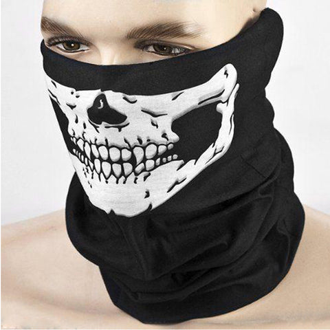 Black Motorcycle Multi Function Halloween Skull Skeleton Party Masks Headwear Hat Scarf