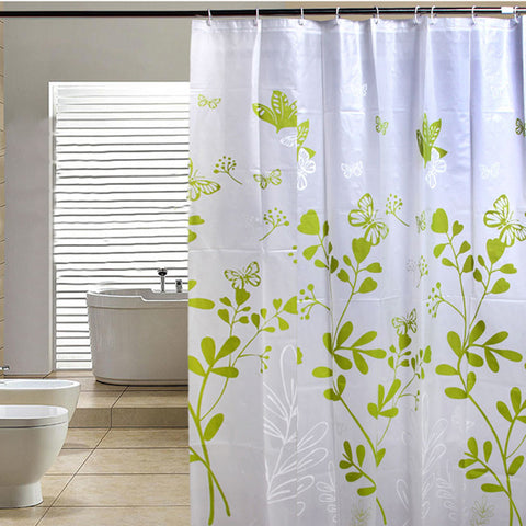 Butterfly Tree PEVA Bathroom Waterproof Fabric Shower Curtain With 12 Hooks 180cmx180cm