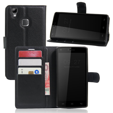 CASEISHERE Luxury Leather Flip Case for Doogee X5 Max / X5 Max Pro Smartphone Wallet Stand