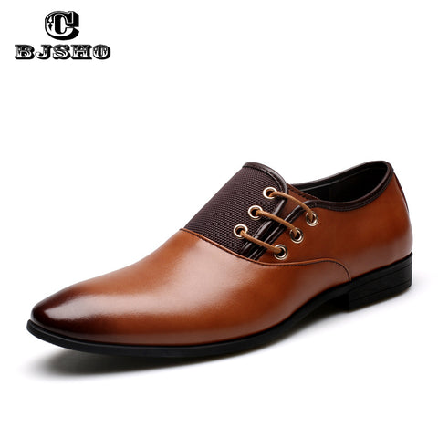 CBJSHO Big Size 43-47 Autumn High Quality Mens Flat Lace Up Men Loafers Genuine Leather