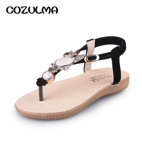 COZULMA Little Kids Big Kids Cute Owl Sandals Girls Summer Shoes Child Rhinestone Flip